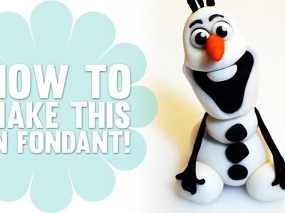 How to Make a Fondant Olaf from Disney's Frozen - Cake Decorating Tutorial