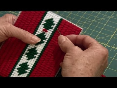 How to Make a French Knot (Plastic Canvas)