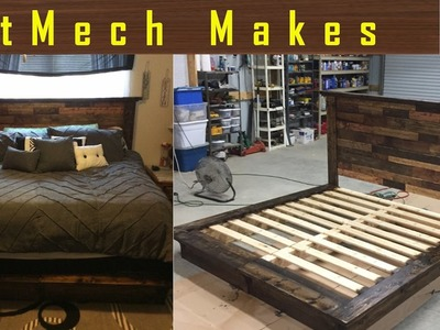 How to make: A Rustic Bed with Pallet Wood Headboard