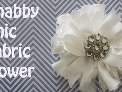 How to Make a Shabby Chic Fabric Flower with Bling