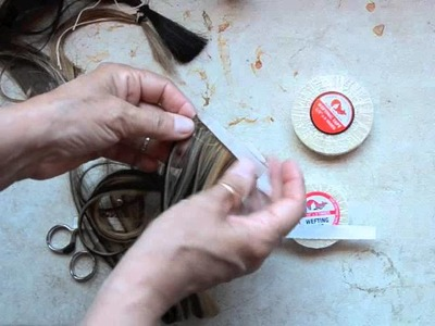 HOW-TO MAKE A SINGLE SIDE TAPE HAIR EXTENSION -By HairWeftingTape.com