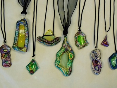 How To Make Broken Glass Paperclay Pendants: Part 2