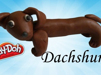 How to make Dachshund (dog) for kids using modelling clay Play doh