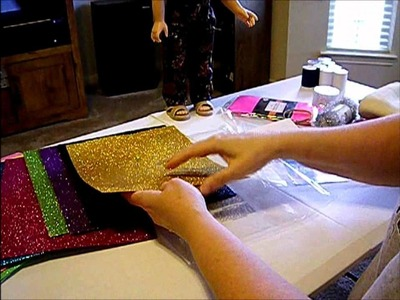 How to Make Doll Shoes - Use Glitter Sheets