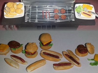 How to make Doll Size Hamburgers and Hot Dogs