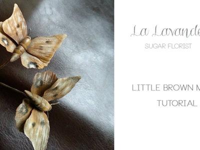 How to make Gumpaste Little Brown Moth Tutorial - La Lavande Sugar Florist