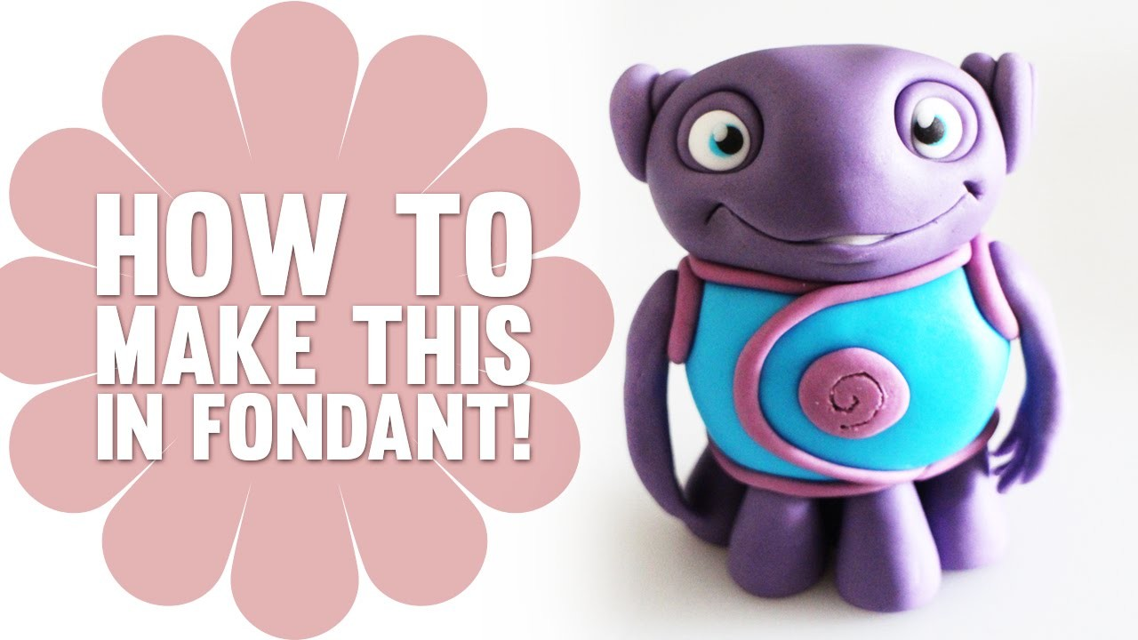 How to Make Oh from Dreamworks Home in Fondant - Cake Decorating Tutorial