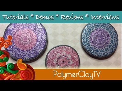 How to make polymer clay magnets with multicolor silkscreen patterns and rare earth
