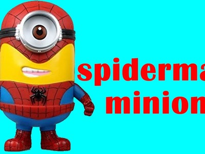 How To Make Spiderman Minion Play Doh Clay - Playdough Disney Marvel Superhero Spider-man