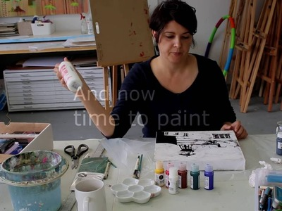 How to paint using the ink resist technique
