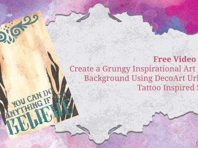 Inspirational Art Journal Background using Tattoo Inspired Stencils - Book of Backgrounds 2016, #38