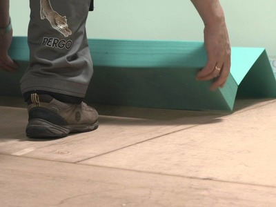 Installing laminate flooring: how to install an underlay?