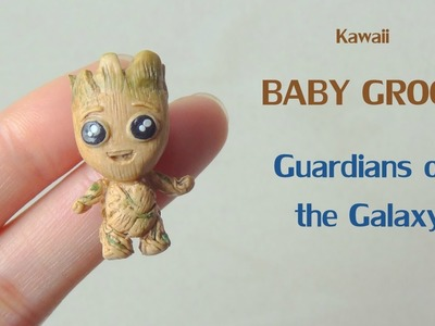 Kawaii Baby Groot tutorial. Tuto Fimo Bébé Groot