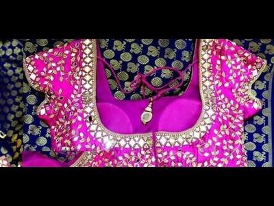 Latest designer mirror blouses