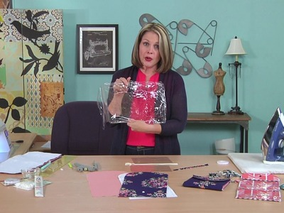 Learn how to make a clear vinyl bag on It's Sew Easy with Caroline Critchfield (1310-1)