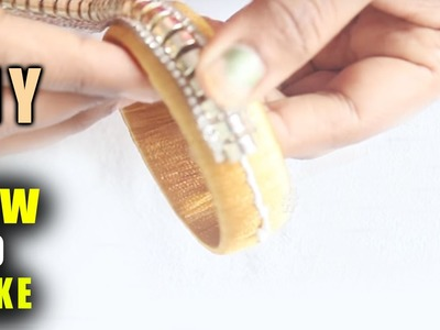 Learn to make Silk Thread Bangle final step very easy  | zooltv