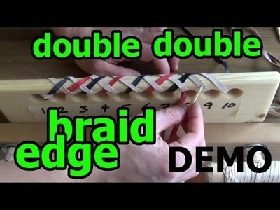 Leather Lacing: Double Double Helix Round Edge Braid