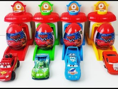 Lightning McQueen Suprise Eggs Learn Colors Play Doh Lollipop Spiderman Finger Family Nursery Rhymes