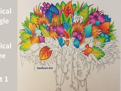 Magical Tree - Part 1 - MAGICAL JUNGLE by Johanna Basford