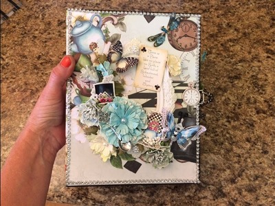 MINI ALBUM TUTORIAL PART 1 ENCHANTED TEA START TO FINISH SHELLIE GEIGLE JS HOBBIES AND CRAFTS