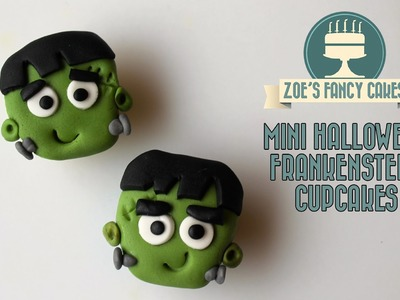 Mini Halloween Frankenstein cupcakes How To Cake Tutorial treats ideas