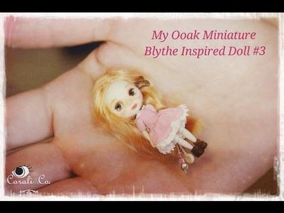 Miniature Doll. Ooak Miniature Blythe Inspired Doll #3