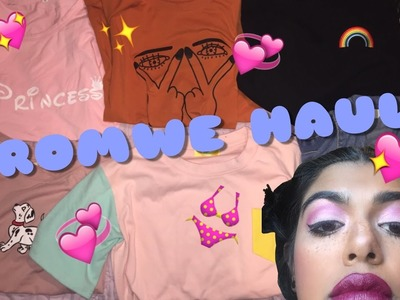 MY ROMWE HAUL (CLOTHES + MAKEUP BRUSHES) | Cas Jerome