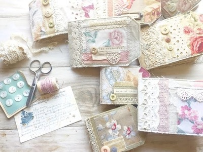 NEW!! Vintage Tag Notebook Journals