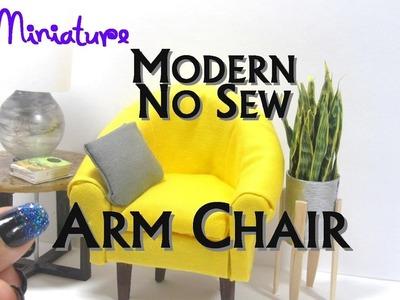 No Sew Armchair, Side Chair, Club Chair, Lounge Chair Dollhouse Furniture Miniature Furniture Modern