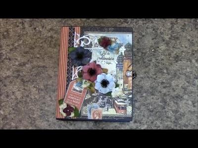 PART 2 TUTORIAL MINI ALBUM USING GRAPHIC 45 CITY SCAPES -  DESIGNS BY SHELLIE