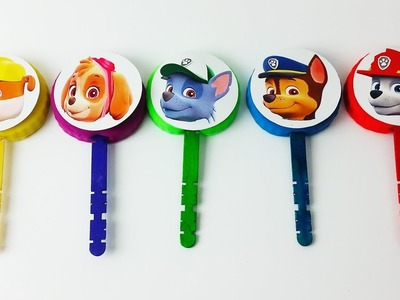 Paw Patrol Play Doh Lollipop Finger Family Nursey Rhymes Surprise Eggs Learn colors for Children