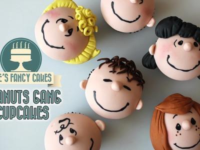 Peanuts movie cupcakes peanuts gang cupcake tutorial