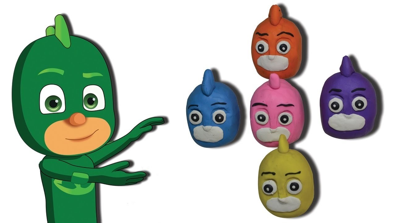 Pj Masks Learn Colors With Play doh - Pj Masks Heads Colors for children To Learn