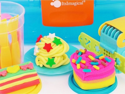 Plasty Play Sweets ItsImagical Modelling Playdough Cooking Playset Doh Dessert Kids Kitchen Toys