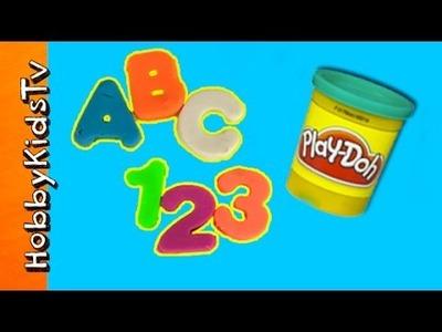 Play-Doh ABC 123! Letters + Numbers Arts N Crafts Fun HobbyKidsTV