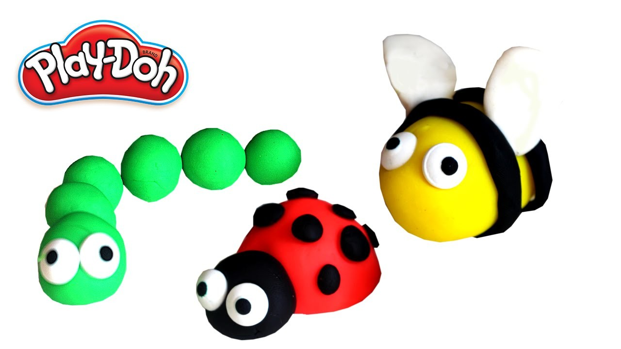 Play Doh - How to make funny insects with modeling clay   Creative for Kids