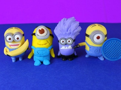 Play Doh Minion Stuart Tutorial by DisneyCarToys with Minion Dave, Evil Minions Despicable Me 2
