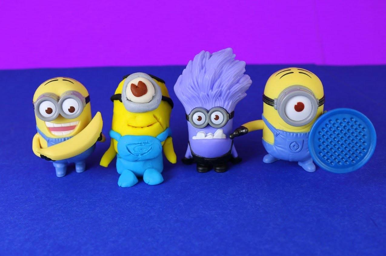 Play Doh Minion Stuart Tutorial by DisneyCarToys with Minion Dave, Evil Minions Despicable Me 2
