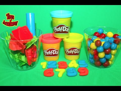 Play-Doh Numbers Playset Learning Counting Numbers with Gumballs 1 to 9 | Toys Academy