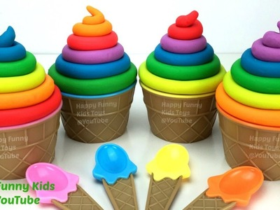 Play Doh Rainbow Ice Cream Cupcake Surprise Eggs Marvel Avengers Barbie Disney Princess Paw Patrol