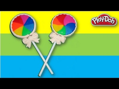 Play-Doh Rainbow Lollipops