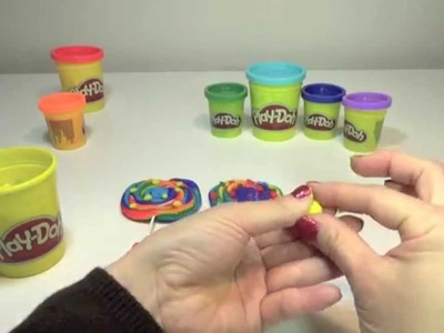 Play Doh Rainbow lollipops 플레이 도우 롤리 팝  пластилин  радуга леденец cầu vồng kẹo by ABC Twinkle Toys