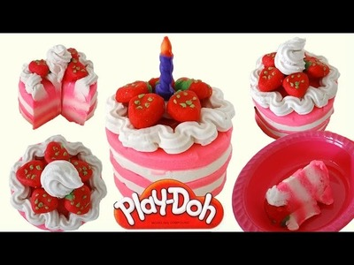 Play Doh Strawberry Ice Cream Birthday Cake