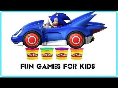 Play Doh Surprise Eggs : Sonic - Kinder Surprise