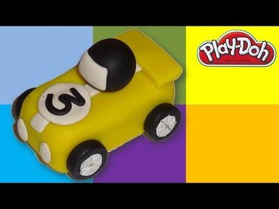 Play-Doh Yellow Racer Car