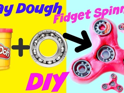 Play Dough Fidget Spinner DIY (Make it Monday) Making Fidget Spinner DIY