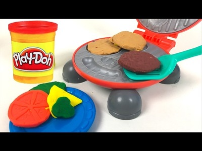 PLAYDOH BURGER BARBECUE BURGER PARTY SET WITH GRILL HOTDOG HAMBURGERS BUNS AND CONDIMENTS - UNBOXING