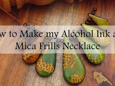 Polymer Clay Alcohol Ink and Mica Frills Necklace