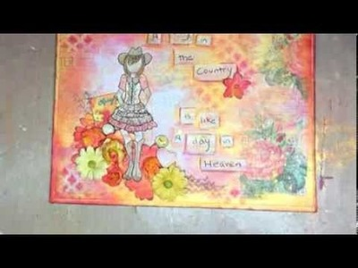 Prima Marketing with Jennifer Snyder - Color Bloom Mists and Cowgirl Doll Stamps