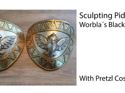 Sculpting and painting black Worbla (Pokemon Pidgey)